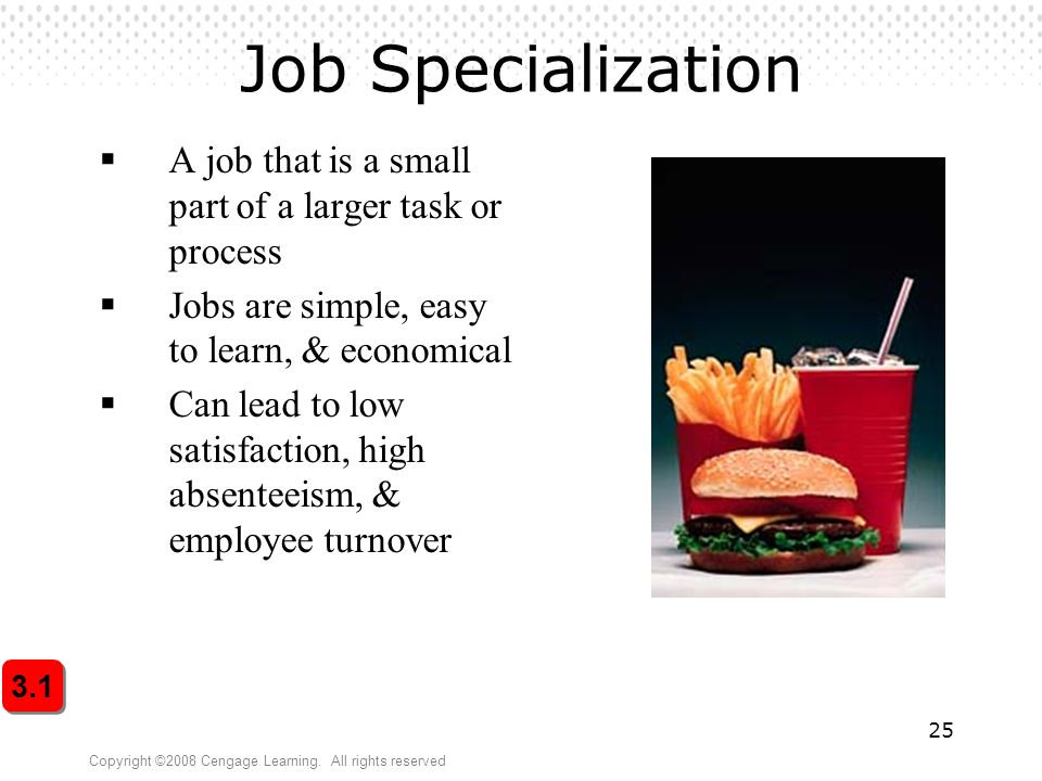 what are the primary advantages and disadvantages of job specialization Skip to primary content home article index let's take a look at the advantages and disadvantages of agriculture everybody's job was.