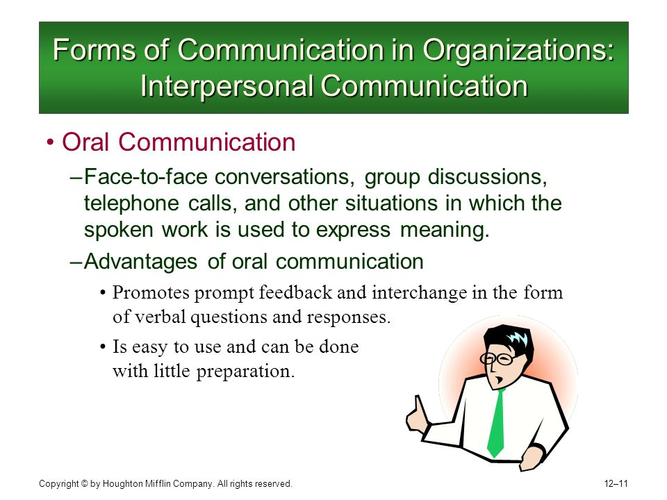 how oral communication works In the professional world, communication matters to the core and oral  communication in the work place are vital for success of any organization if  employees.