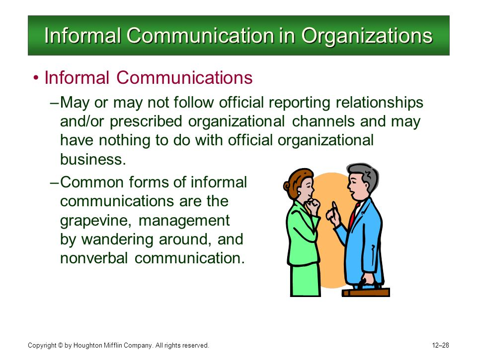 organisational business communication Relationship between organisational communication flow and  the fast pace of changes in the business environment and tough competition.