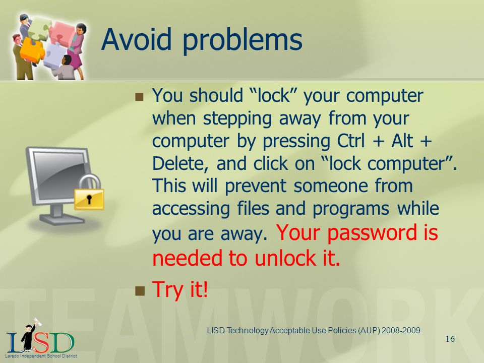 Avoid problems