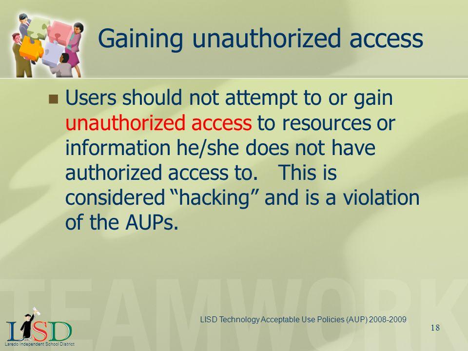 Gaining unauthorized access