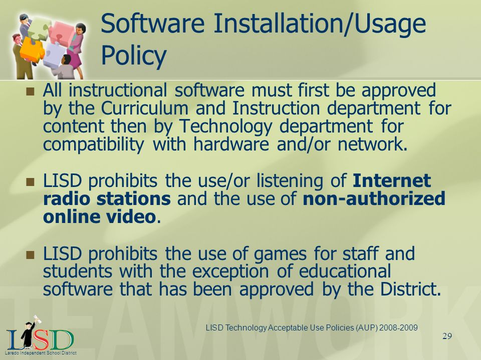 Software Installation/Usage Policy