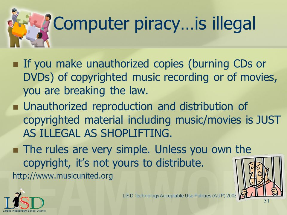 Computer piracy…is illegal