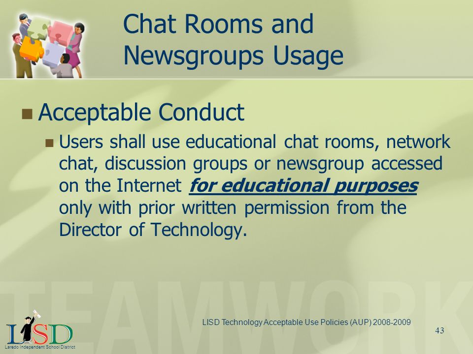 Chat Rooms and Newsgroups Usage