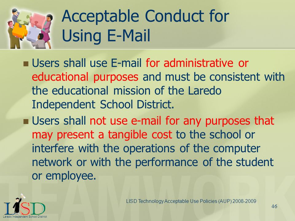 Acceptable Conduct for Using E-Mail