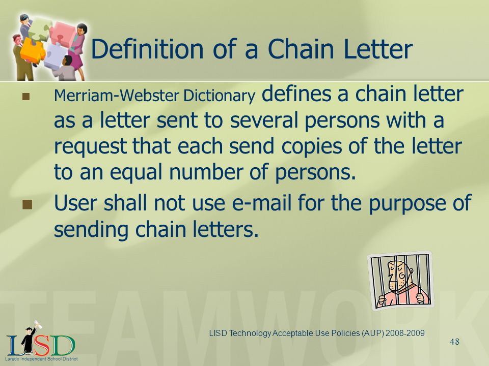 Definition of a Chain Letter