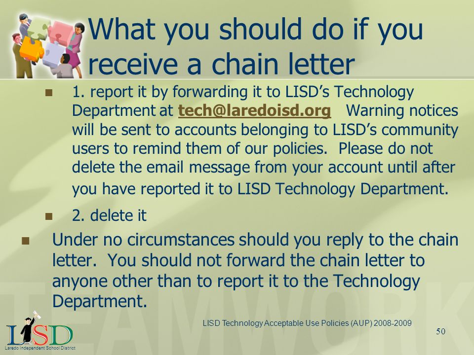 What you should do if you receive a chain letter
