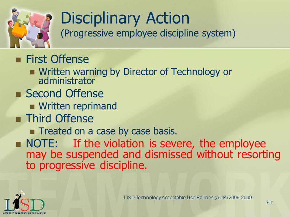 Disciplinary Action (Progressive employee discipline system)