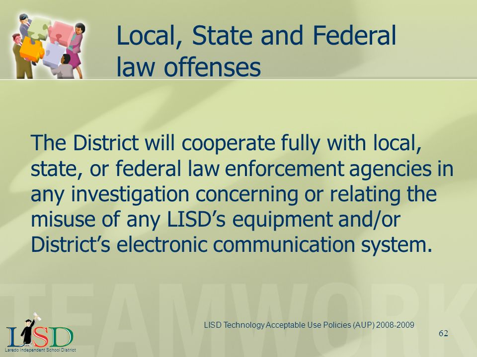 Local, State and Federal law offenses