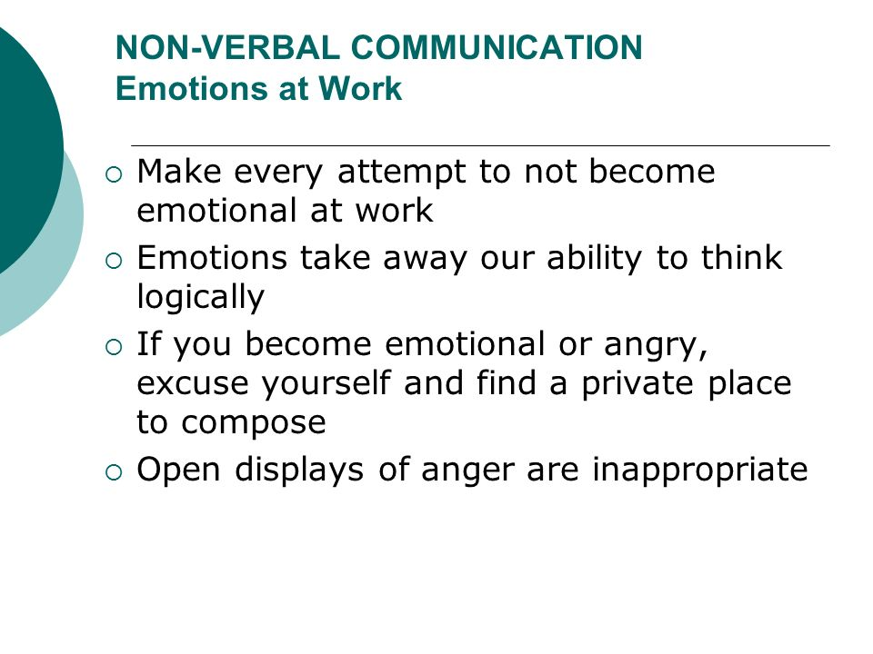 how to avoid emotions in communication