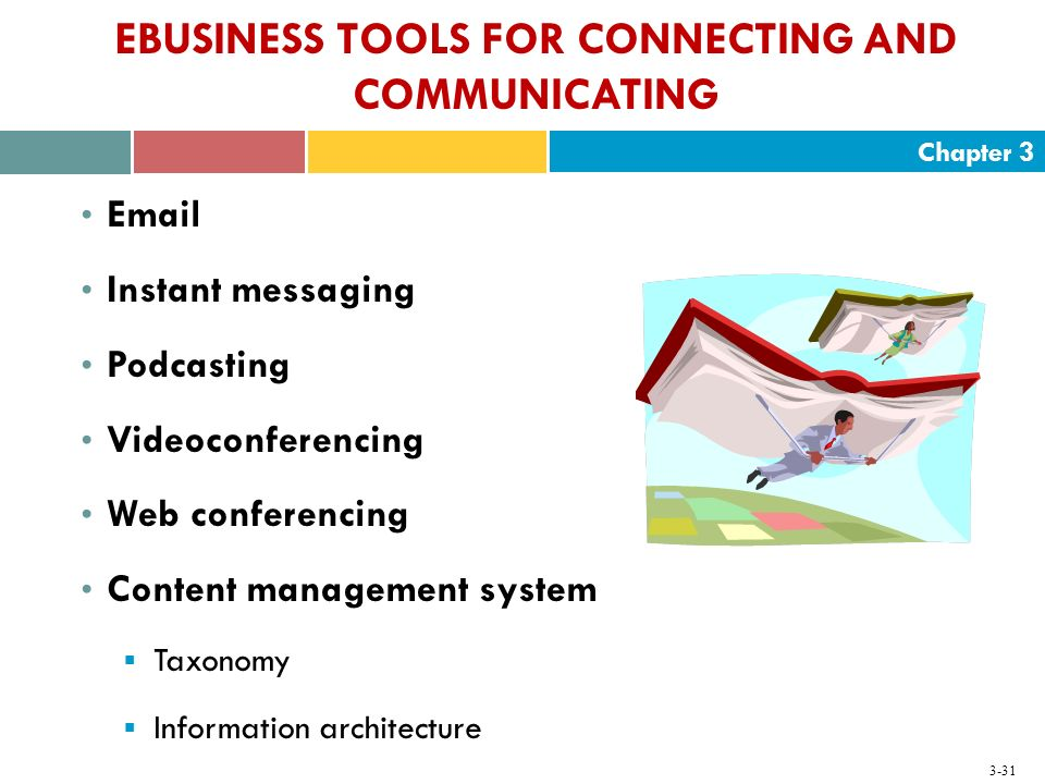 EBUSINESS TOOLS FOR CONNECTING AND COMMUNICATING