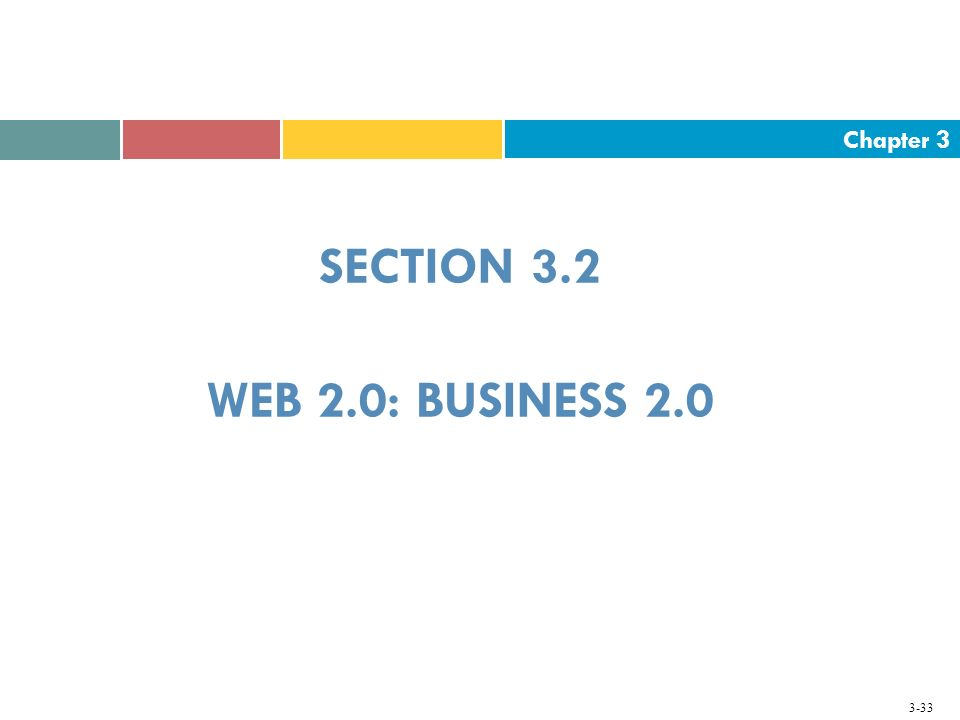SECTION 3.2 WEB 2.0: BUSINESS 2.0