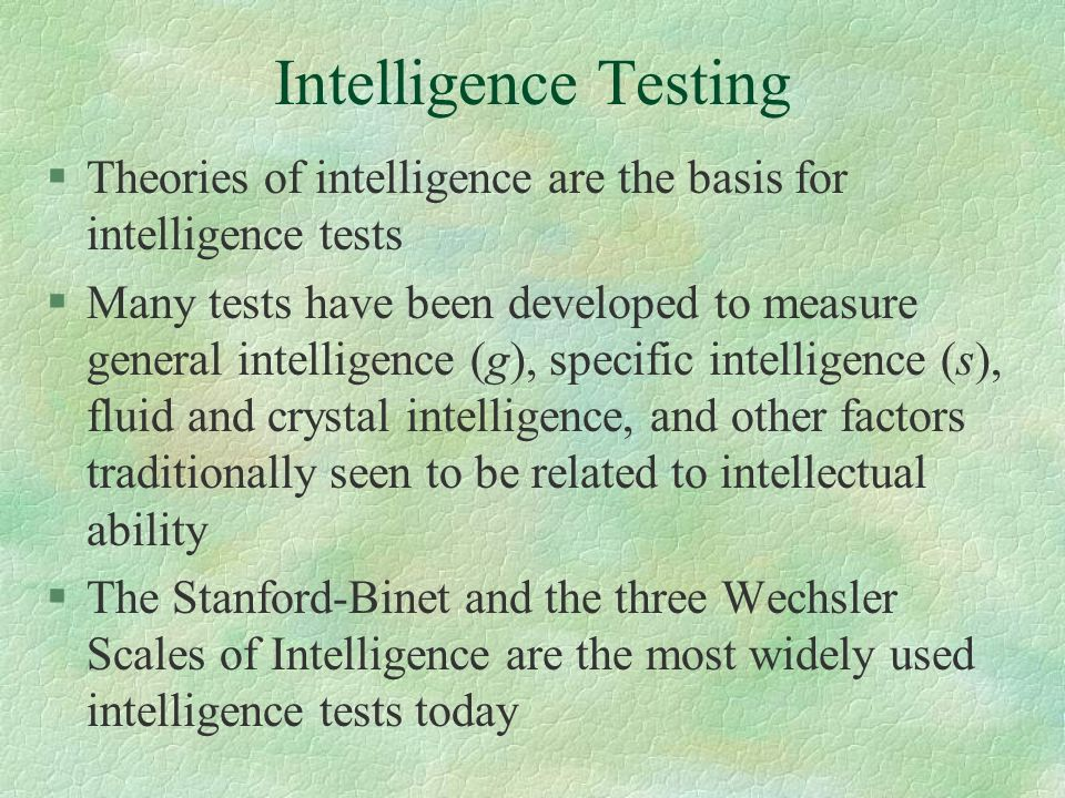 intelligence tests today Is it time to get rid of iq tests in schools today, we're talking about npr transcripts are created on a rush deadline by verb8tm, inc.