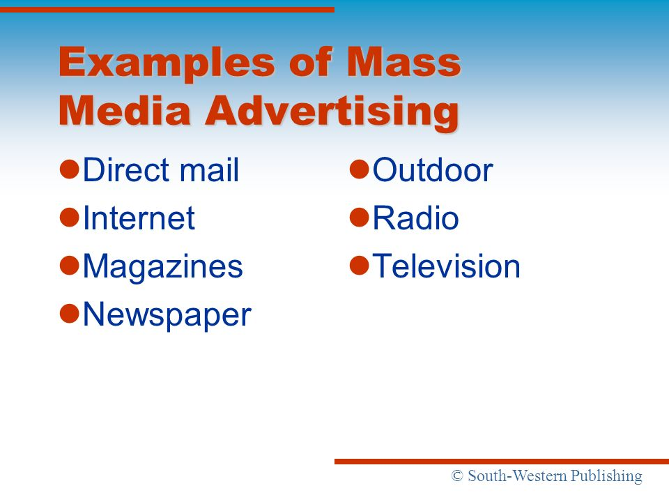 Examples of Mass Media Advertising