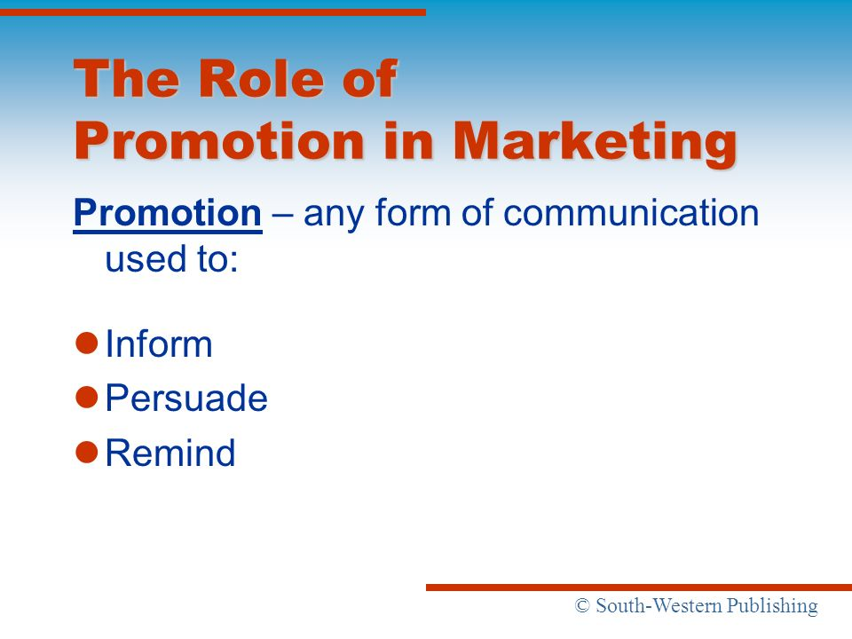 role of promotion in marketing pdf