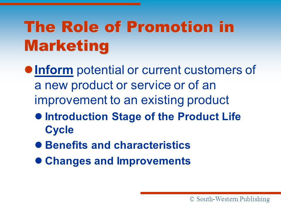 The Role of Promotion in Marketing