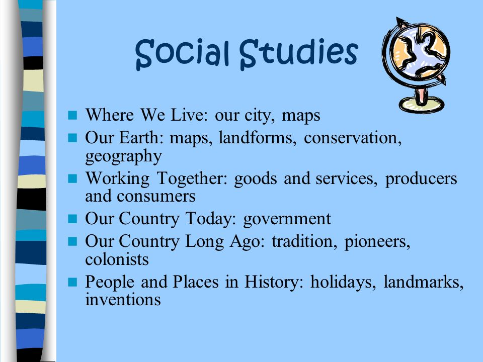 Social Studies Where We Live: our city, maps