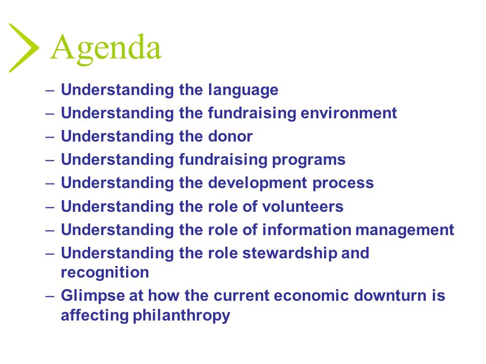 Agenda Understanding the language