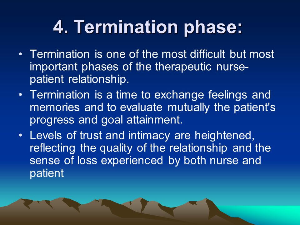 four stages of the nurse patient relationship