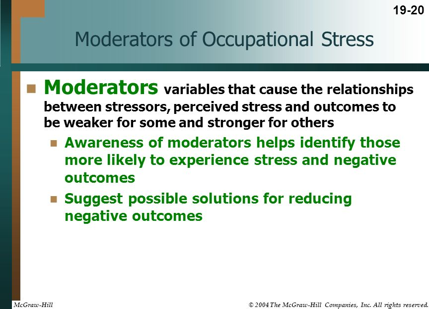 causes of occupational stress Occupational stress: a review on conceptualisations, causes and cure 75 personality and behavioural variations make it hard to empirically evaluate the vast nature of.