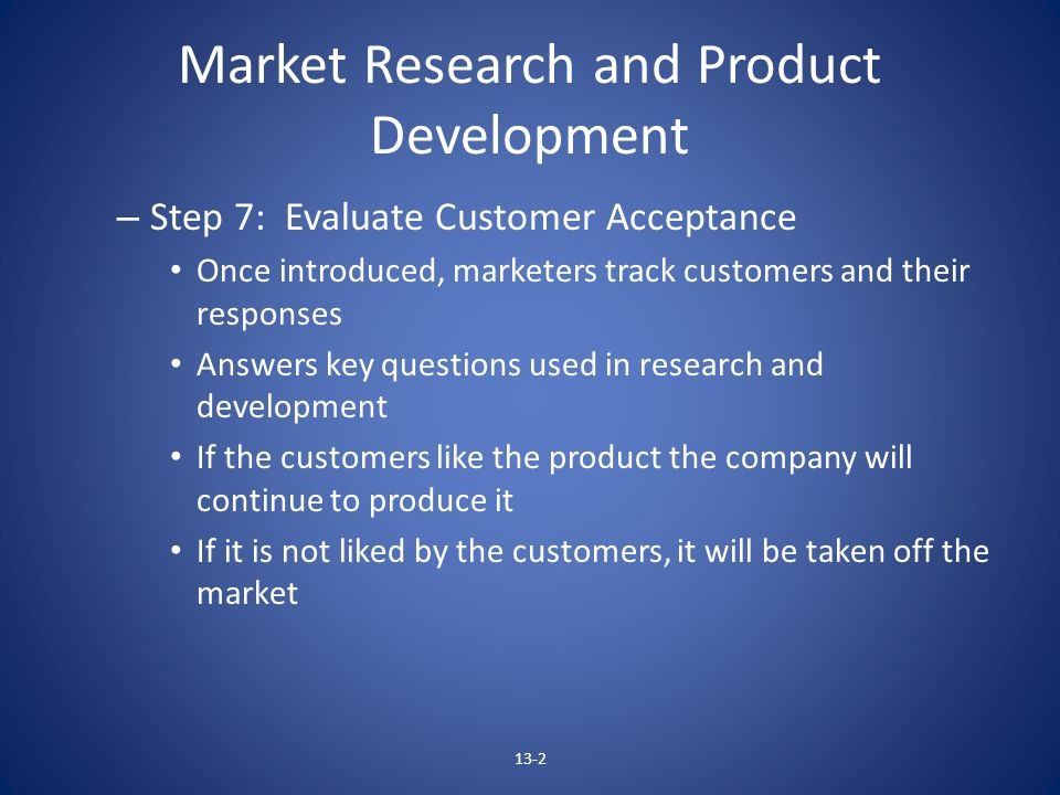 Market Research and Product Development