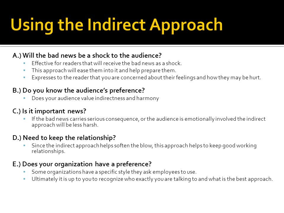 Bcm 3700 july ppt download using the indirect approach spiritdancerdesigns Images