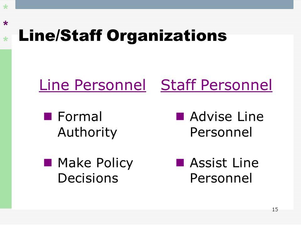 Line/Staff Organizations