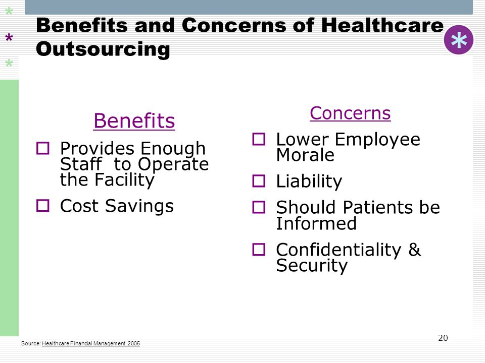 Benefits and Concerns of Healthcare Outsourcing