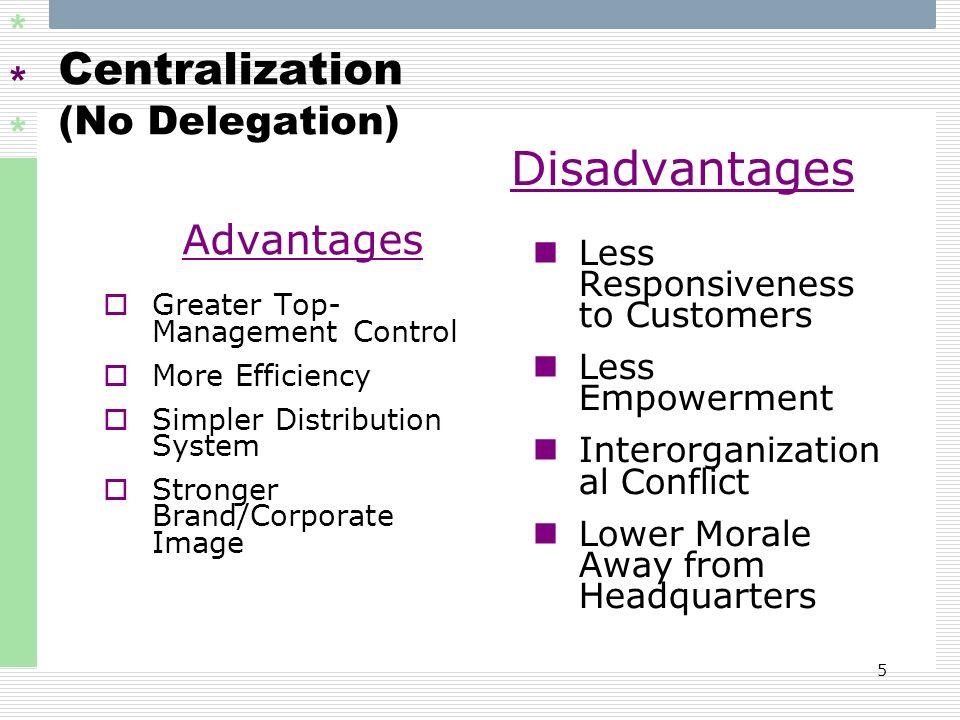 Centralization (No Delegation)