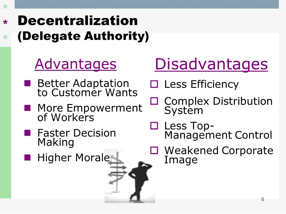 Decentralization (Delegate Authority)