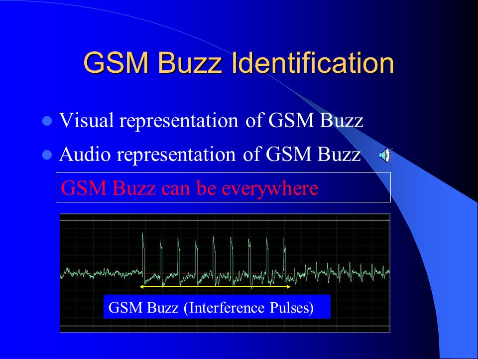 GSM Buzz Identification