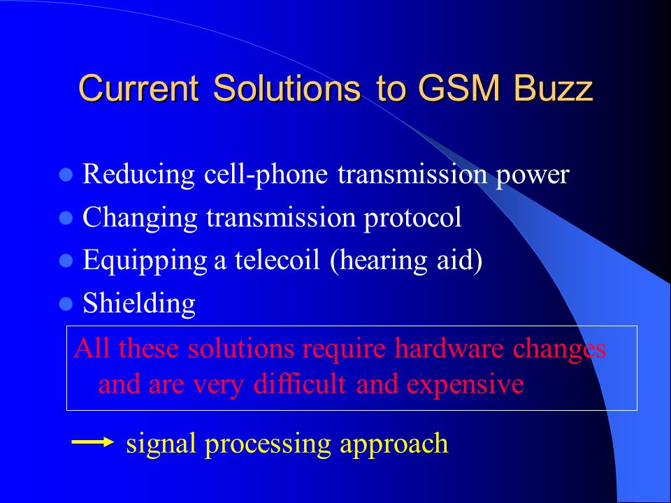 Current Solutions to GSM Buzz