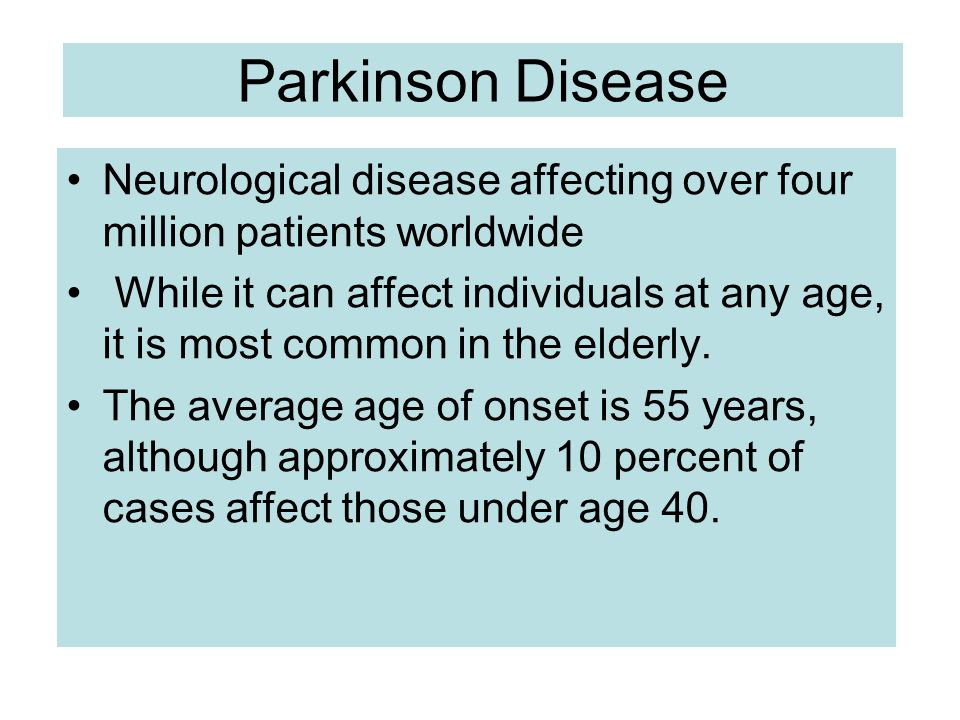 parkinsons disease a common and progressive brain disorder Parkinson disease dementia  is an age-related degenerative disorder of certain brain cells  the most common symptoms of parkinson's disease are tremor.