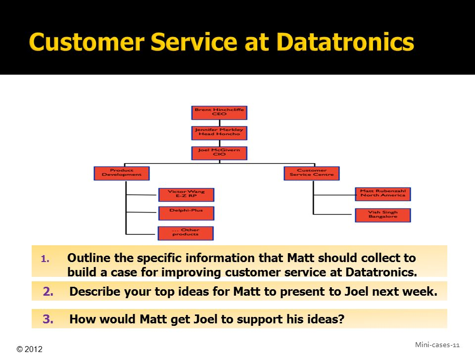 Customer Service at Datatronics