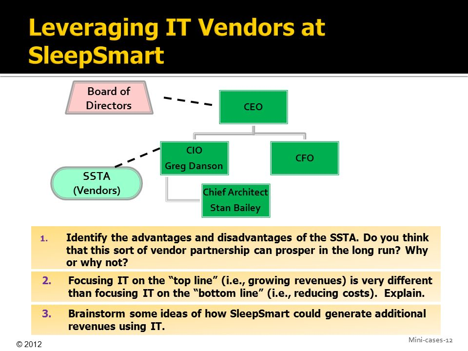 Leveraging IT Vendors at SleepSmart