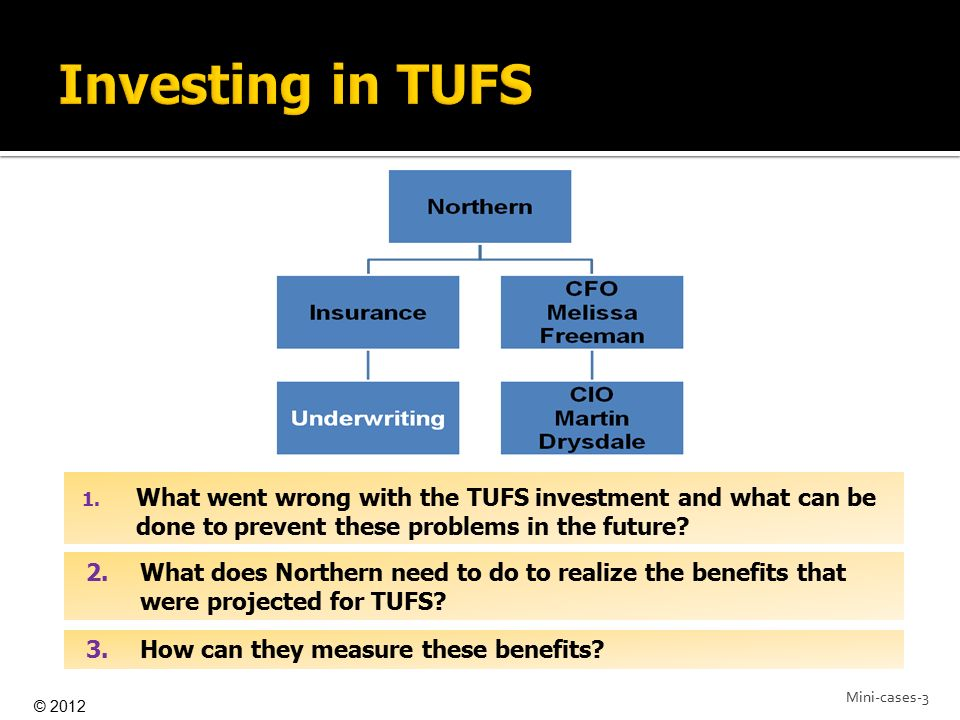 Investing in TUFS What went wrong with the TUFS investment and what can be done to prevent these problems in the future