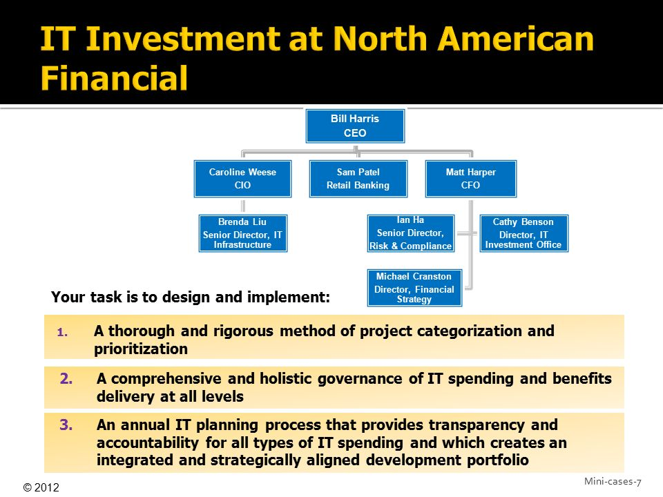 IT Investment at North American Financial