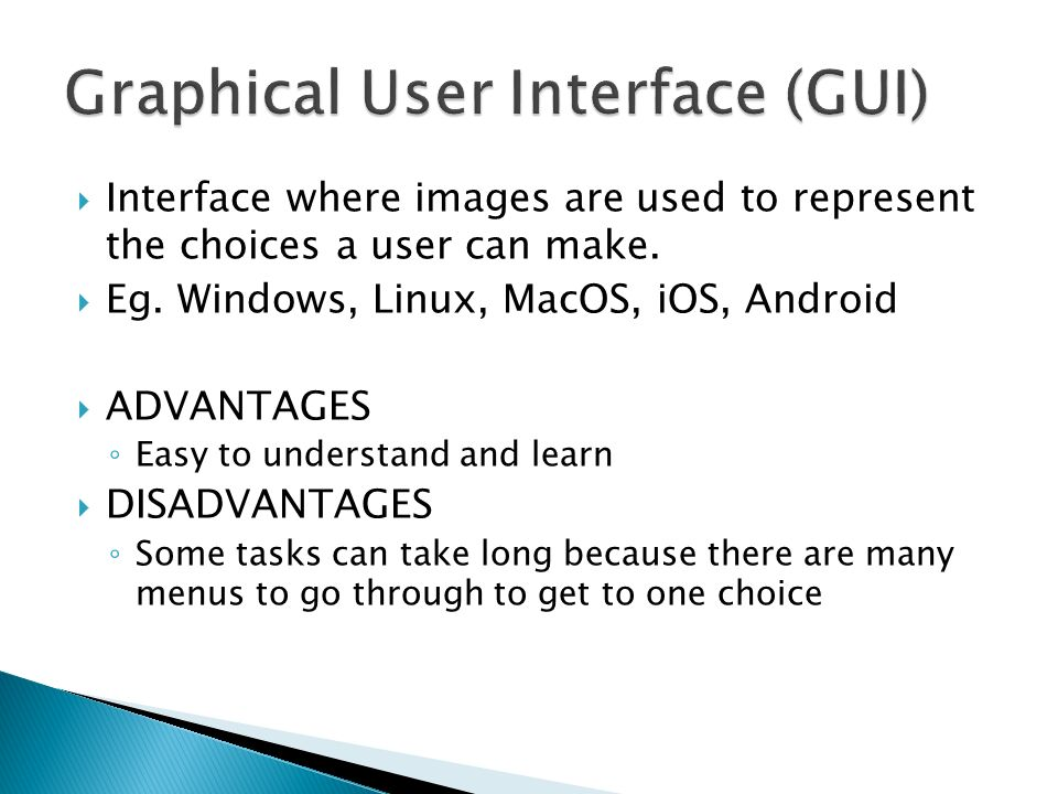 """graphical user interface essay Order 100% plagiarism free essay on cis 375 week 4 discussion graphical user interface (gui) """"graphical user interface (gui) and drone design"""" please respond to the following: • guis play an important role on how an end-user interacts with an operating system."""