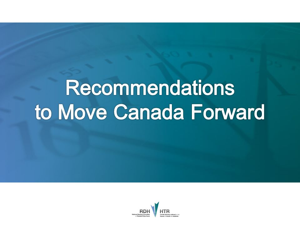 Recommendations to Move Canada Forward