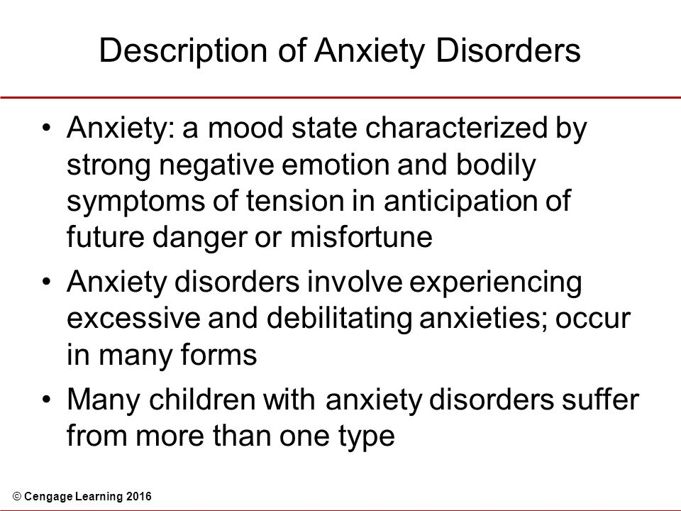 a description of panic disorder Anxiety disorder is a common mental illness revolving around worry and fear learn about the different anxiety disorders, their symptoms, treatments.
