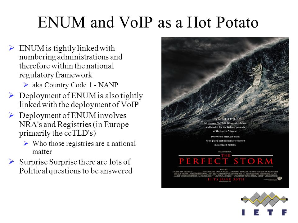 ENUM and VoIP as a Hot Potato