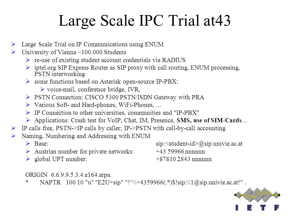 Large Scale IPC Trial at43