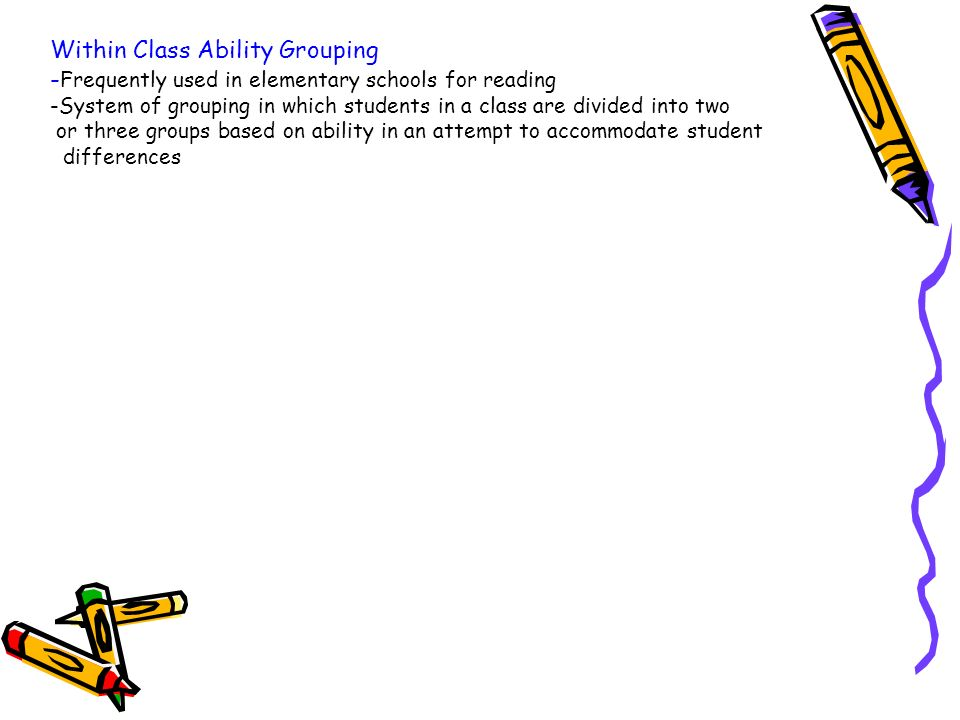 Ability grouping literature review