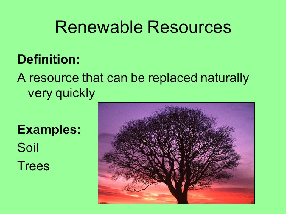 Limited Natural Resource Definition