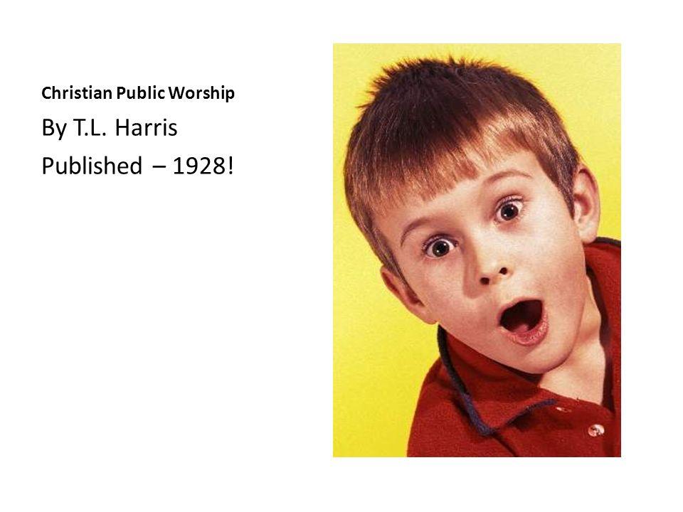Christian Public Worship
