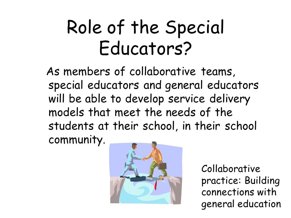 Collaborative Teaching Models Special Education ~ Least restrictive environment information for families