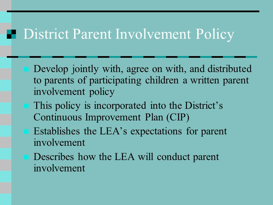 parent involvement plan template parent involvement policies and parent school compacts