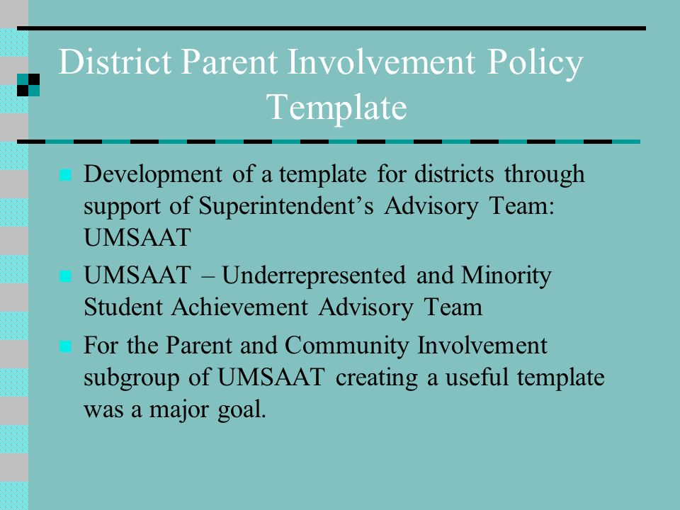 Parent involvement policies and parent school compacts for Parent involvement plan template