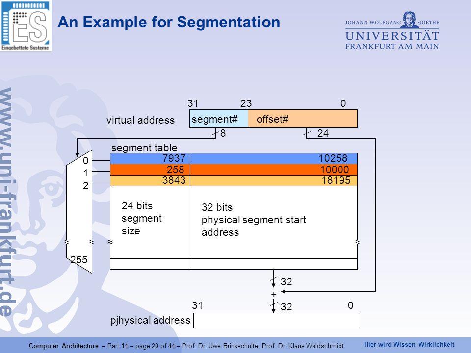 An Example for Segmentation