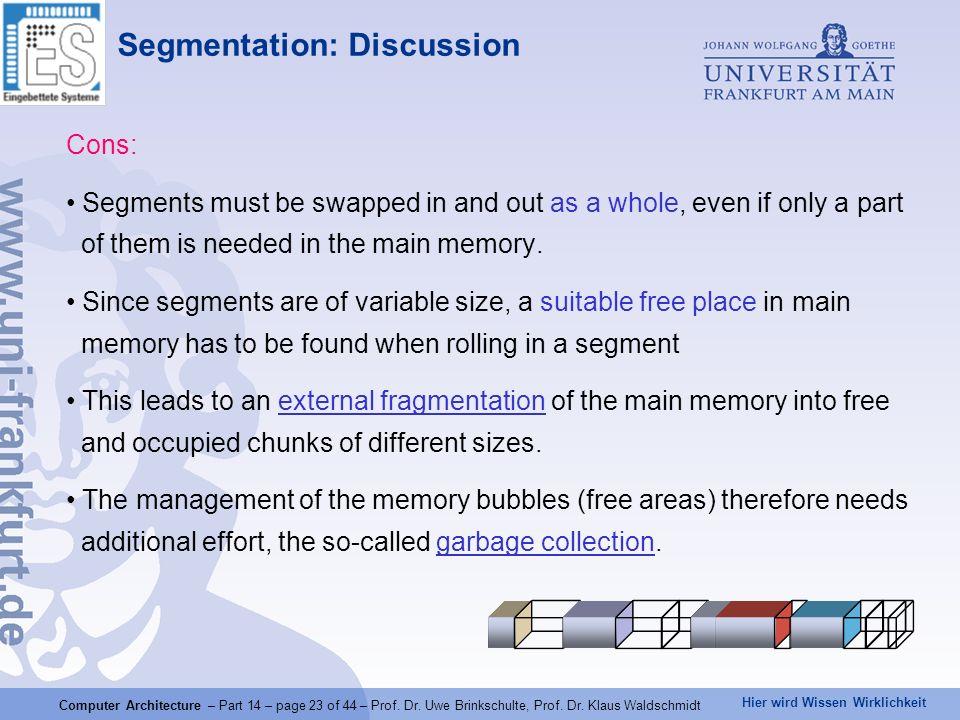 Segmentation: Discussion